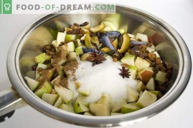 Бисквити с есенни плодове