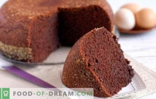 Kakavova gobasta torta - čokoladna pravljica! Domači recepti za kakavove piškote: klasična, kuhana voda, kefir, kisla smetana s češnjo