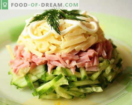 Салата от шунка са най-добрите рецепти. Как да правилно и вкусно да се готви салата с шунка.