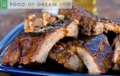 Côtes au four en papier d'aluminium - les mangeurs de viande seront ravis! Recettes côtes au four en papillote avec adzhika, légumes, champignons