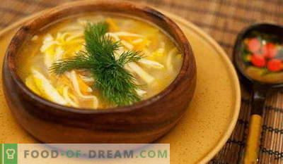 Soupe aux nouilles - les meilleures recettes. Comment bien et savoureux cuire la soupe de nouilles.