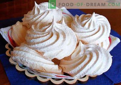 Meringue - geriausi receptai. Kaip tinkamai ir skaniai ruošti naminius meringus.