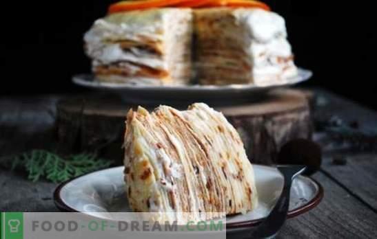 Торта за палачинки с яйчен крем - няколко варианта за деликатен десерт. Най-добрите рецепти за палачинки с яйчен крем