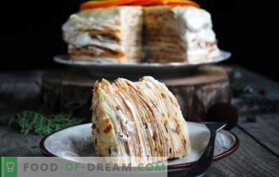 Pancake cake with custard - several options for a delicate dessert. The best pancake cake recipes with custard