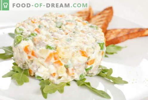 Пиле Оливие - най-добрите рецепти. Как правилно и вкусно приготвяме пилешка салата.