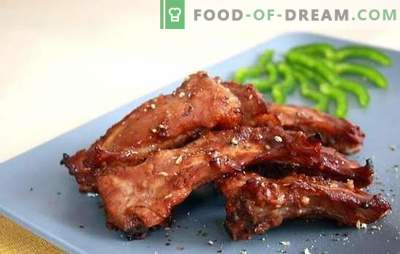 Pork ribs in a slow cooker - an aromatic snack and a full dish. Recipes of fried and stewed pork ribs in a slow cooker