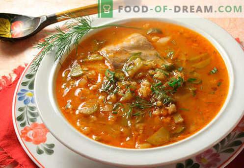 Расолник с ориз - най-добрите рецепти. Как правилно и вкусно да се готви туршия с ориз.