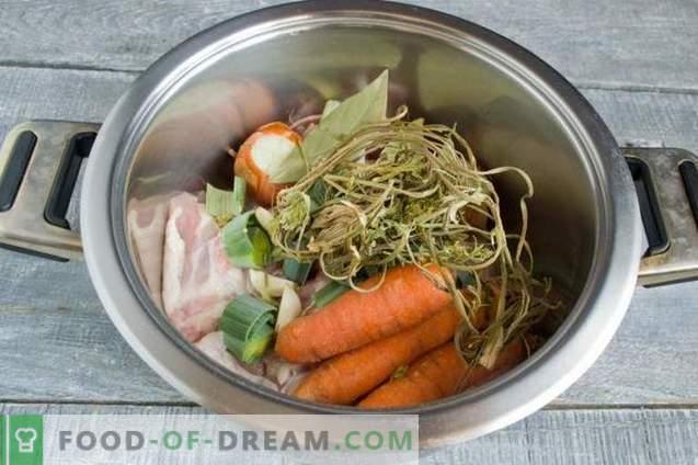 Расолник с пиле и фасул