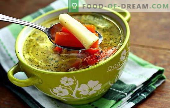Sopa de vegetais magra - para vegetarianos e jejum. Receitas de cozinhar sopa de legumes magra