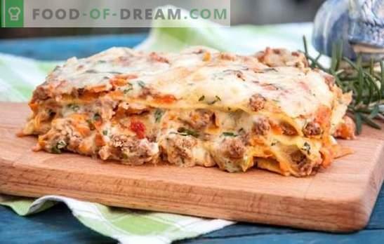 Лазаня със сос Бешамел - италианска запеканка! Рецепти за лазаня със сос бешамел и кайма, гъби, домати, шунка