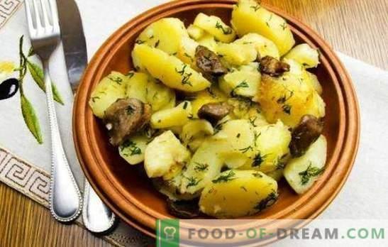 Картофи с гъби в бавен котлон - по-добре, отколкото в тиган. Картофи с гъби в бавен котлон: пържени, задушени, печени