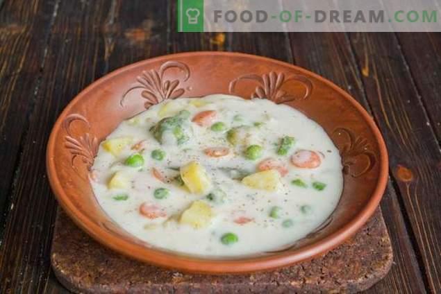 Sopa de leite com legumes - incomum, mas muito saboroso!