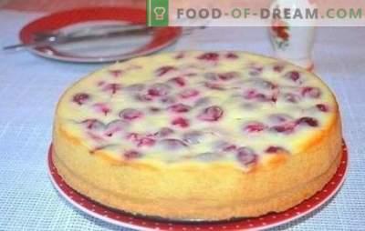 Hoe maak je een heerlijke kersen taart op kefir - geheimen. Een selectie van recepten voor verschillende taarten met kers op yoghurt
