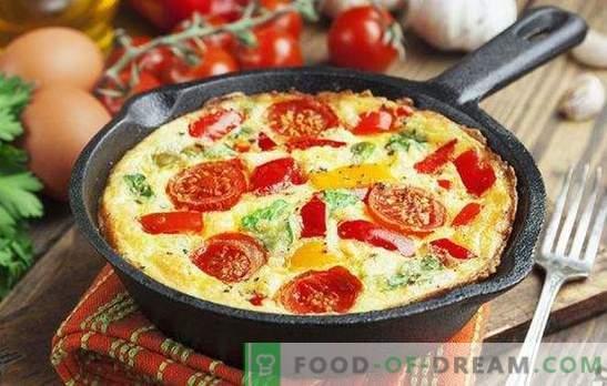 Омлет със зеленчуци - ярка и здравословна закуска. Как да готвя омлет със зеленчуци в тиган, в бавен печка, фурна и микровълнова печка