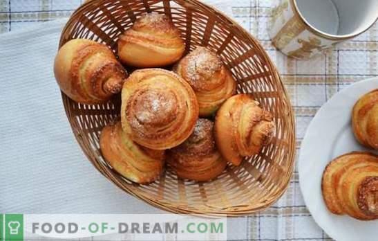 Бонбони от охлюви - сложни сладкиши за чай. Рецепти за ароматни, вкусни охлюви със захар, маково семе, кокосови люспи