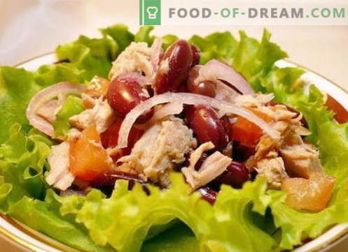 Салата с пиле и фасул - най-добрите рецепти. Как да правилно и вкусно да се подготви салата от пиле и фасул.