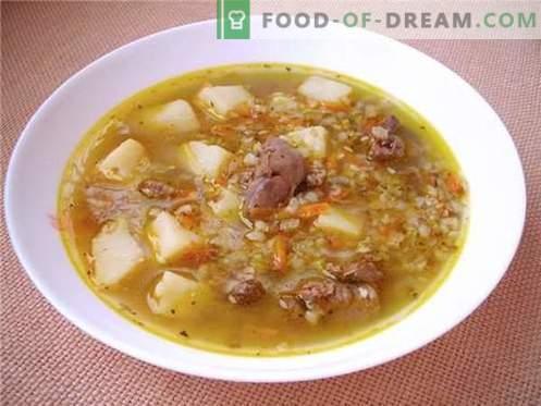 Супа от елда - най-добрите рецепти. Как да се готви супа от елда и вкусно.