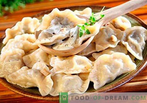 Кнедли с гъби - най-добрите рецепти. Как правилно и вкусно да готвя кнедли с гъби у дома.