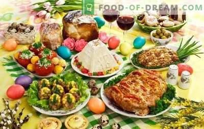 Piatti per Pasqua - abbiamo preparato la tavola per la festa più importante dell'anno. Una selezione delle migliori ricette per la Pasqua: insalate, piatti caldi, dessert
