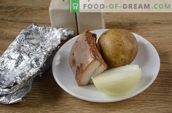 Картофи с бекон в пещ във фолио - вкус от детството! Подробна фото-рецепта за готвене на картофи с бекон, изпечена във фолио