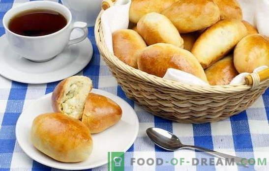 Банички с ориз и лук - подхранващи и евтини! Варени пайове с ориз, лук, яйца от различни видове тесто, пържени и печени