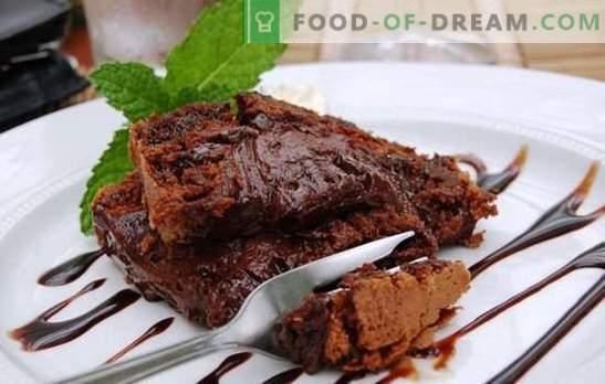 Брауни в бавната готварска печка - за шоколадови сладки зъби! Различни рецепти за удивителни десертни сладки в бавен котлон