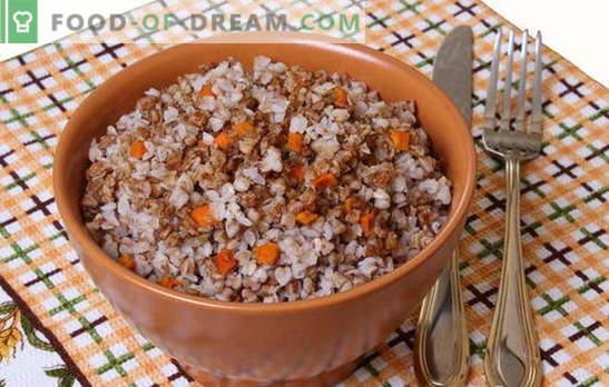 Елда с моркови - умна каша! Рецепти за приготвяне на елда с моркови и лук, домати, гъби, пиле, яйца