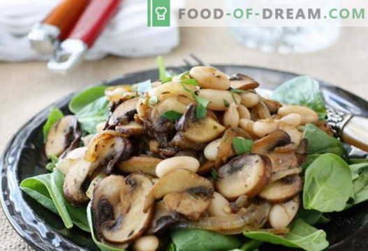 Салата с пържени гъби - селекция от най-добрите рецепти. Как да правилно и вкусно да се готви салата с пържени гъби.