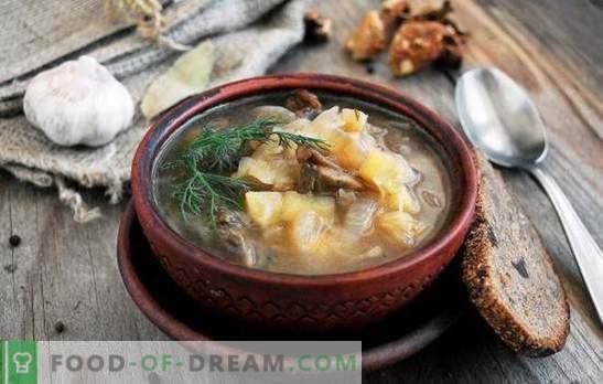 Постна супа - за гладно и диети са добри! Най-добрите традиционни и оригинални рецепти за супа меса без месо и животинска мазнина