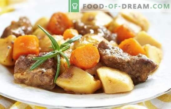 Картофи с месо в тиган - стъпка по стъпка рецепти за вкусна храна. Семейна кухня: картофи с месо в тенджера с рецепти стъпка по стъпка