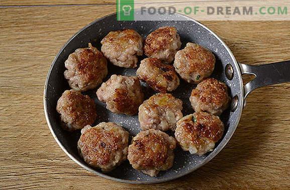 Кюфтета в тенджера: кюфтета за тестени изделия, зърнени храни, зеленчуци и картофено пюре. Стъпка по стъпка фото-рецепта за готвене на кюфтета в тиган за половин час