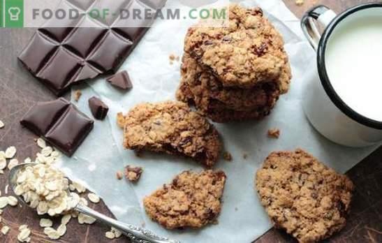 Бисквити от шоколадова овесена каша - бързи сладкиши. Рецепти на ронливи овесени бисквити с шоколадова овесена каша и брашно