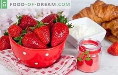Aardbeien met zure room - in de wereld van tederheid! Geweldige aardbeientesserts met zure room voor het zomermenu