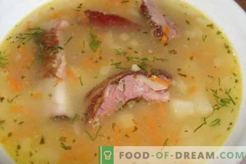 Грах супа - най-добрите рецепти. Как правилно и вкусно да се готви граховата супа.