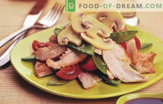 Салата с кисели пиле - още повече вкус и вкус! Най-добрите рецепти за салати с мариновани пилета: прости и бутер