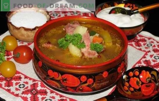 Грах супа с пушени ребра - вкус, познат от детството. Рецепти за супа от грах с пушени ребра