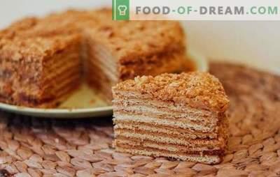 Honingstaart op een waterbad - aromatische gebakjes. Recepten honingcake op een waterbad met verschillende crèmes, noten