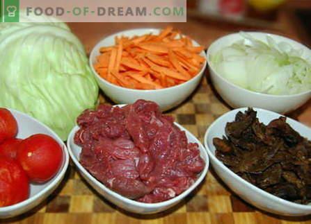 Зеле с месо - най-добрите рецепти. Как правилно и вкусно да се готви зеле с месо.