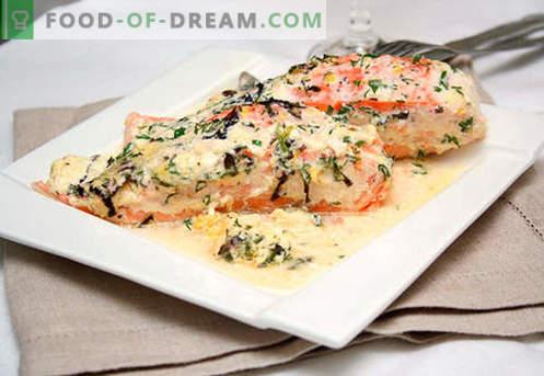 Печената сьомга е най-добрата рецепта. Как правилно и вкусно да се готви сьомга, печена във фурната.