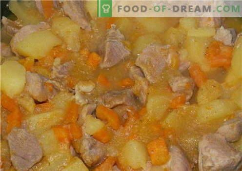 Картофи с месо - най-добрите рецепти. Как правилно и вкусно да се готвят картофи с месо.
