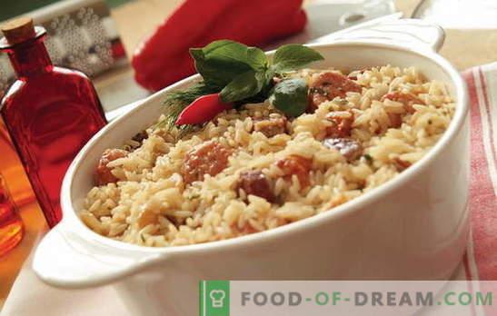 Какво да готвя ориз с месо във фурната? Идеи за кулинарно вдъхновение: рецепти за оризови ястия с месо във фурната