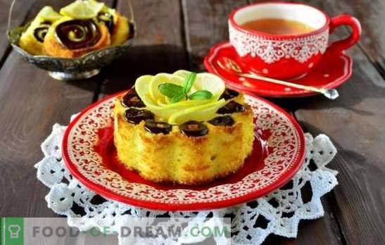 Как да готвя лимон гъба торта във фурната и бавно печка. Тънкостите при приготвянето на лимонов бисквит с импрегниране, върху кефир, с маково семе