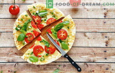 Masa para pizza en kéfir: opciones para la masa