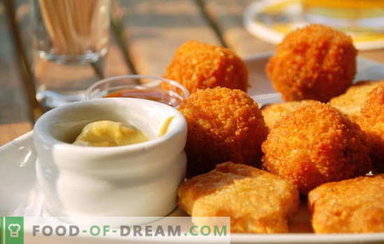 Nuggets у дома - много по-вкусно от закупените! Всеки, който обича заведенията за бързо хранене: рецепти за домашно приготвени късове