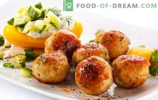 Sealihatükid - kasumlik toit! Erinevate lihapallide retseptid sealiha ja köögiviljade, seente, riisi, tatariga, juustuga
