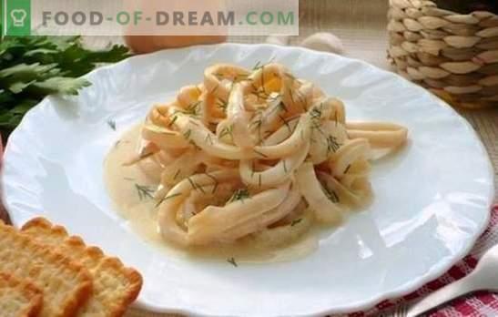 Калмари в кремав сос - най-нежната комбинация! Рецепти за сочни калмари в сметанов сос със сирене, гъби, вино, маслини, домати