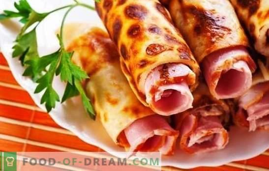 Палачинки с наденица - вкусни, ароматни и с високо съдържание на калории. Готвенето на палачинки с наденица е лесно и възнаграждаващо