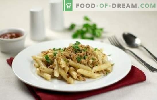 Бълха паста (стъпка по стъпка рецепта) - обилно ядене. Стъпка по стъпка рецепта за макаронени изделия в класически морски стил и с доматено пюре