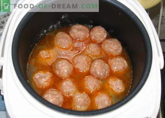 Мултифарбни кюфтета - доказани рецепти. Как да правилно и вкусно варени кюфтета в бавен печка.