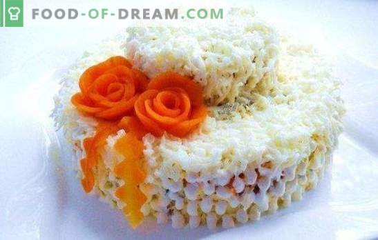 Слоеста салата с моркови - витаминна бомба с вкус. Рецепти за бутер салати с моркови: прости и празнични